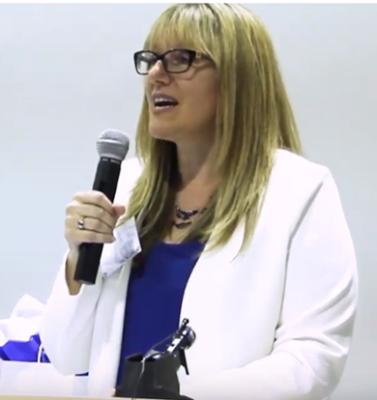 Patricia Regier speaking