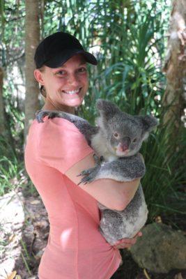 Tayler with koala