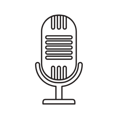 mic with link to podcast
