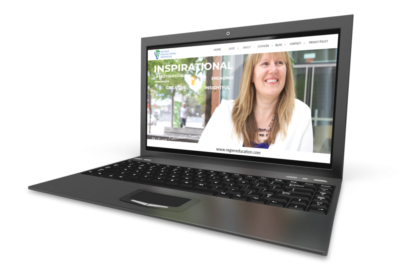 Regier Educational Services website on laptop