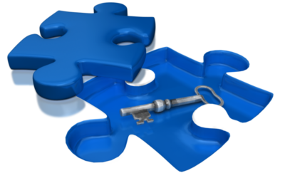 Puzzle Piece and Key
