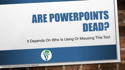 Are PowerPoints Dead