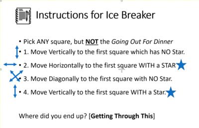 ice breaker instructions