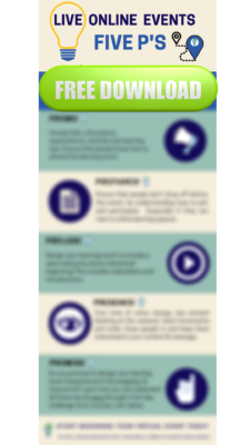 Free Download of 5 P's, blurry image of infographic resource