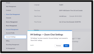 settings moved in Zoom account
