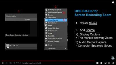 OBS Screen Recording Set Up