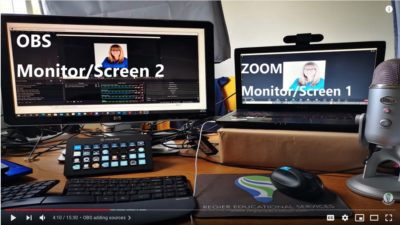 image of both OBS and Zoom screens